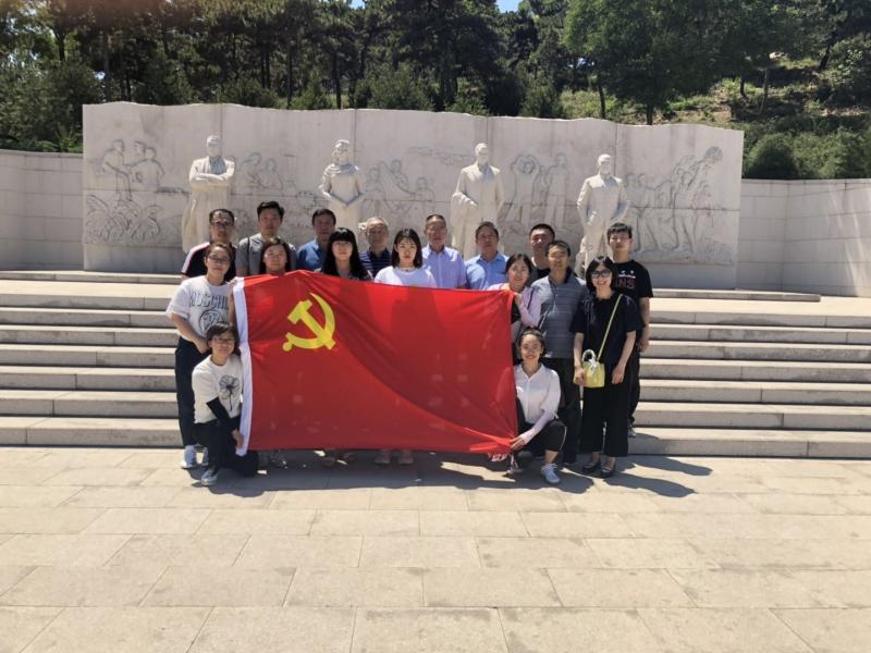 乐虎国际app官网集团第五支部参观 北京西山无名英雄纪念广场