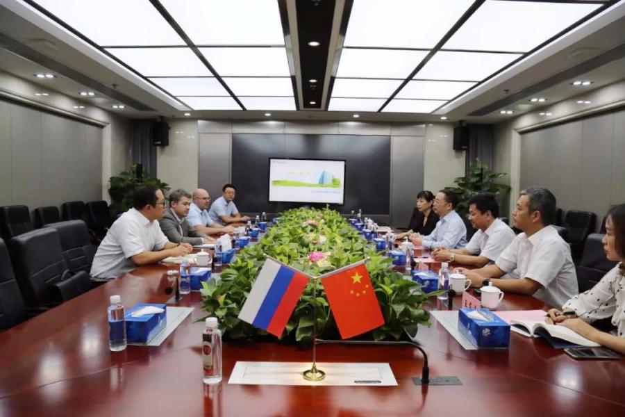 俄罗斯阿康集团海外事务副总裁一行到访乐虎国际官方网下载集团